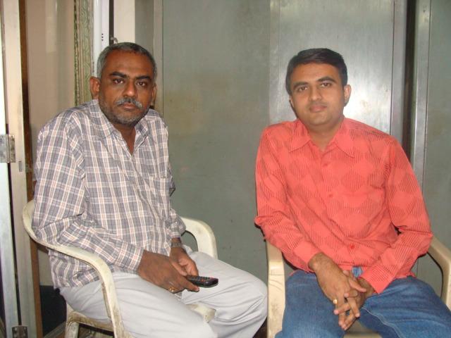 Khumansinh Jadeda with Devang Vibhakar