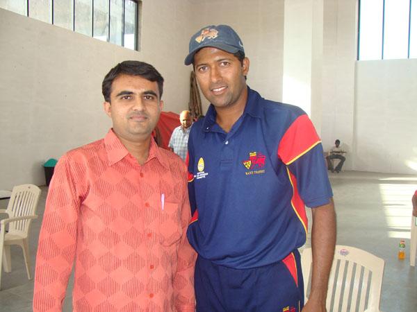 Devang Vibhakar with Wasim Jaffer