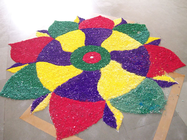 Rangoli – a coulorful invitation for new year