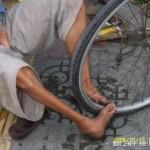 Handicapped punctured tire repair