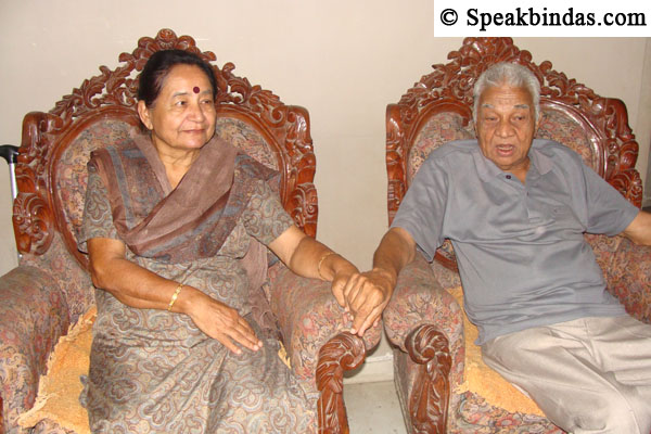 Vinod Bhatt with wife