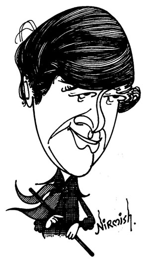 Cartoon of Devanand