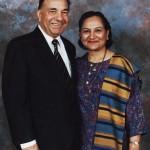 Dr. Kanak Raval with wife Bharatiben