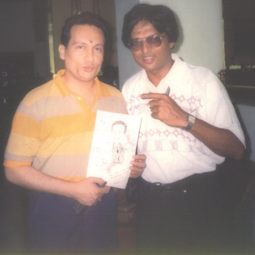 Nirmish Thaker with Shekhar Suman
