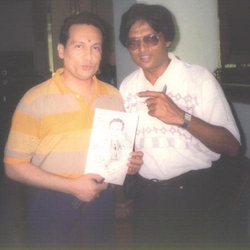 Nirmish Thaker with Shekhar Suman