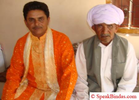 Dhirubhai with father Haribhai Devsibhai Sarvaiya