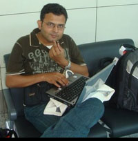 Raju with Laptop