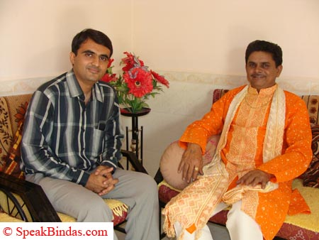 Devang Vibhakar with Dhirubhai Sarvaiya