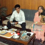 Zahid with Amina