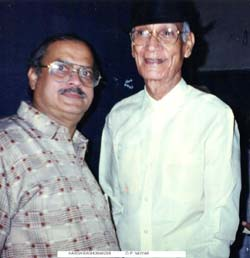 Harish Raghuvanshi with O P Nayyar