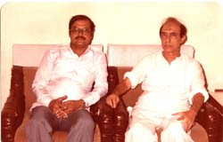 Harish Raghuvanshi with Talat Mahmood