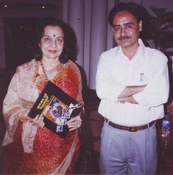 With Asha Parekh