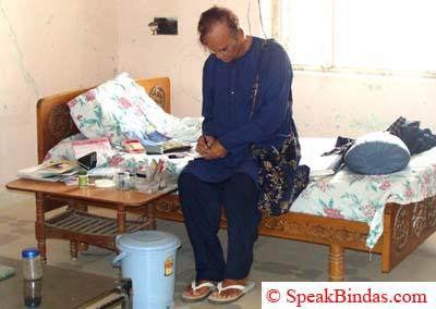 Shahbuddin Rathod in his Room