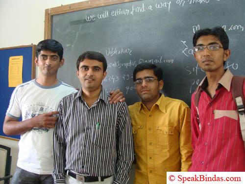 With students at Saurashtra University