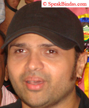 Himesh Reshmiya at a press meet in Rajkot