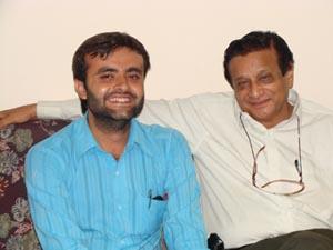 with Rajnikumar Pandya
