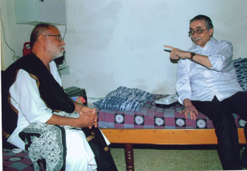 Yasin Dalal with Morari Bapu