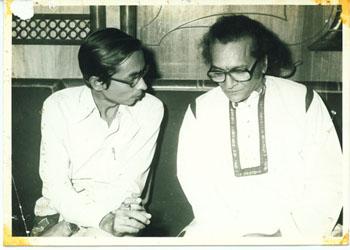 Yasin Dalal with Pandit Ravi Shanka