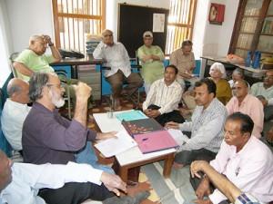 Kiran Trivedi in the GMRA Meeting