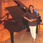 Devanshi Joshi with a Piano