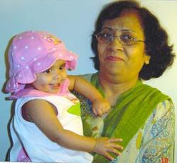Neela Kakadia with Grand daughter Richa