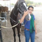 Neha with horse