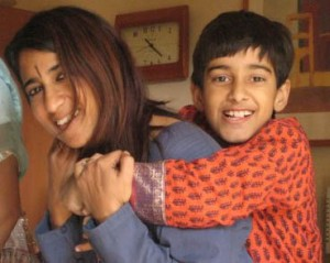 Neha with her son
