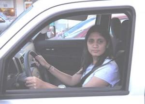 Shilpa Deshpande in car