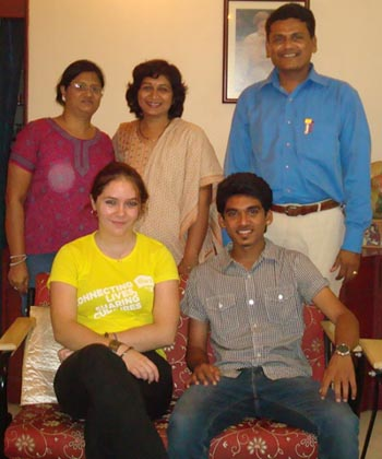 (In photo: Anna, Dhruvin, Mrs. Gaurangi Patel & Mrs. & Mr. Mehta)
