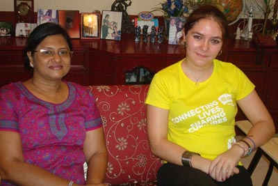 (L to R: Mrs. Gaurangi Patel, Anna)