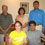 (Sitting: Anna, Dhruvin Mehta. Standing, L to R: Mr. Patel, Mrs. & Mrs. Mehta – Dhruvin Mehta's parents)