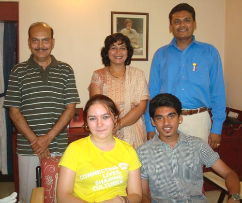 (Sitting: Anna, Dhruvin Mehta. Standing, L to R: Mr. Patel, Mrs. & Mrs. Mehta - Dhruvin Mehta's parents)