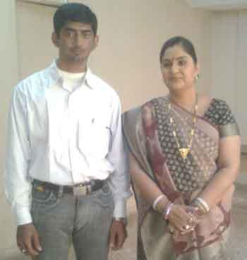 Adhirajsinh Jadeja with Vandana Pathak