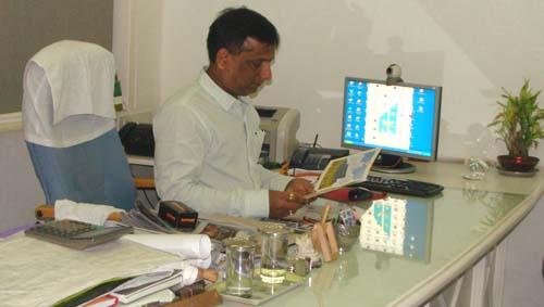 Hitesh Bagdai In His Office