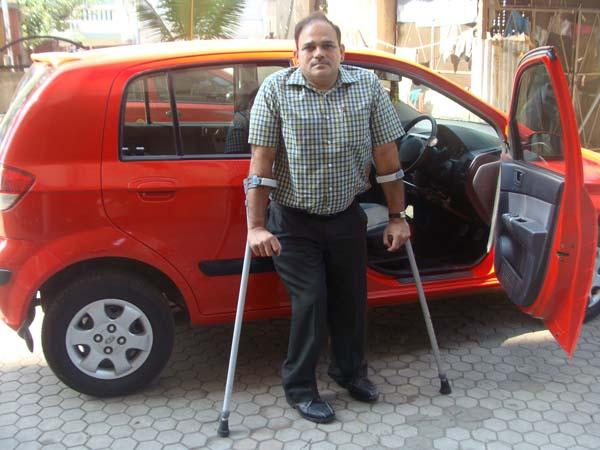Suresh Lalan with his car