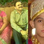 (L to R: Wife - Sonali, Suresh Lalan, son-Smit)