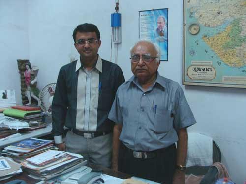 Interviewer Devang Vibhakar with Dr Ramesh J Bhayani