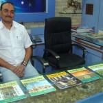 Jayesh Patel with Magazines