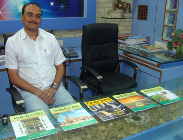 Jayesh Patel with Magazines