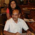 Vaidehi Mehta with her Dad