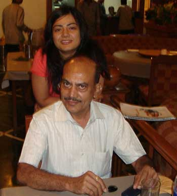 Vaidehi Mehta with her Dad