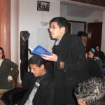 Presentation of the book in the School of Journalism in Marrakech (Morocco)