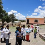 The Alcione Association gives away books to humble children in remote areas of Bolivia