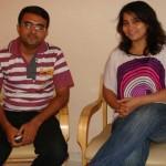 Devang Vibhakar (Interviewer) with Prantoti Pradhan
