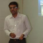 Devang Vibhakar delivering a lecture at Department of Social Work of Saurashtra University