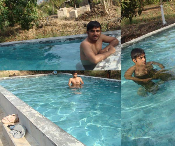 Swimming Pool at Lion Rora Farm, Bhojde, Sasan Gir