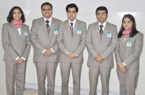 Our GSE Team, from left: Tejal Rajput, Dr. Snehal Lokhandwala, Team leader Himal Pandya, myself, Mirani Patel