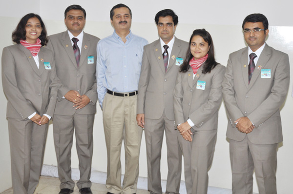 Our team with G.S.E. Chair Mr. Virakm Sanghani