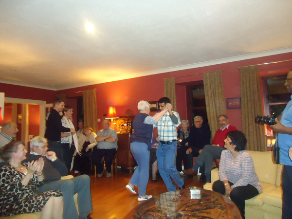 Me doing Scottish Country Dancing with host-mother Morag Willis.