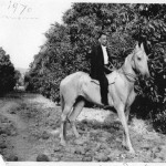 Bhayabhai Maldebhai Ratiya riding a horse